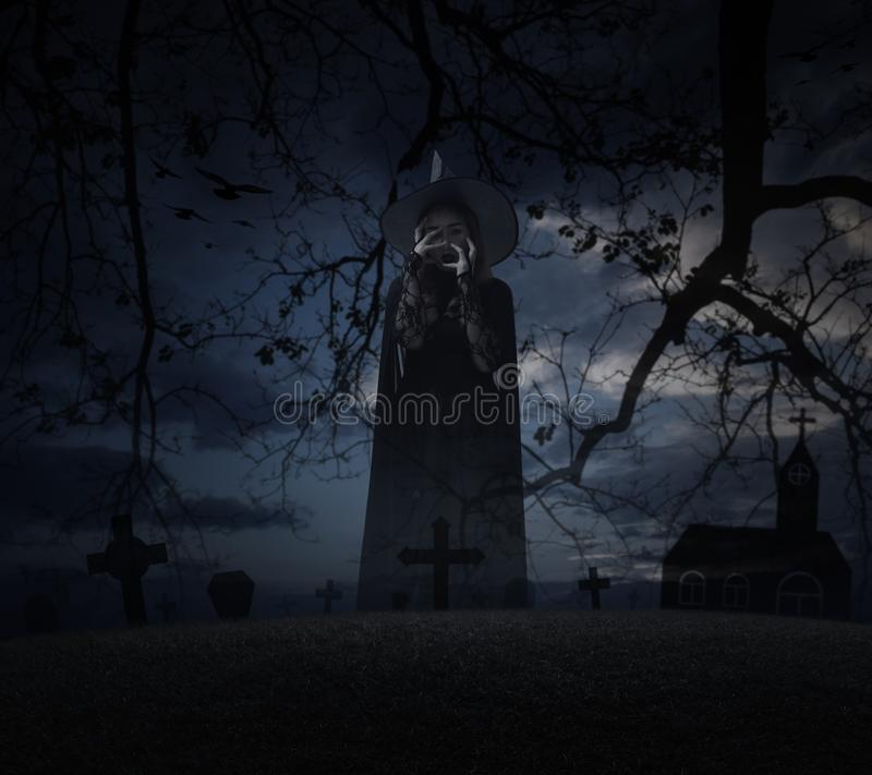 Concepto del misterio de Halloween fotografía de archivo libre de regalías