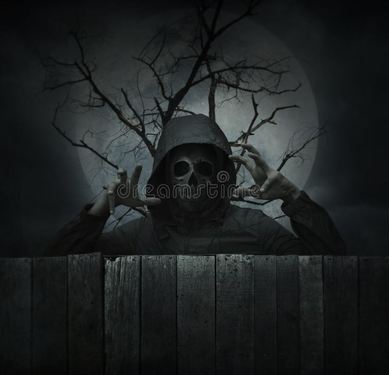 Concepto del misterio de Halloween fotografía de archivo