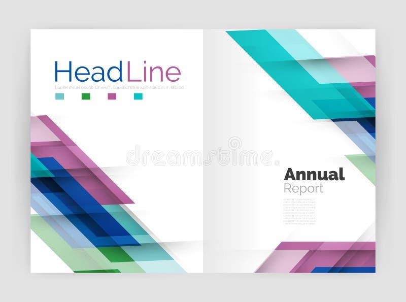 Concepto del movimiento Plantillas de la cubierta del informe anual del negocio ilustración del vector