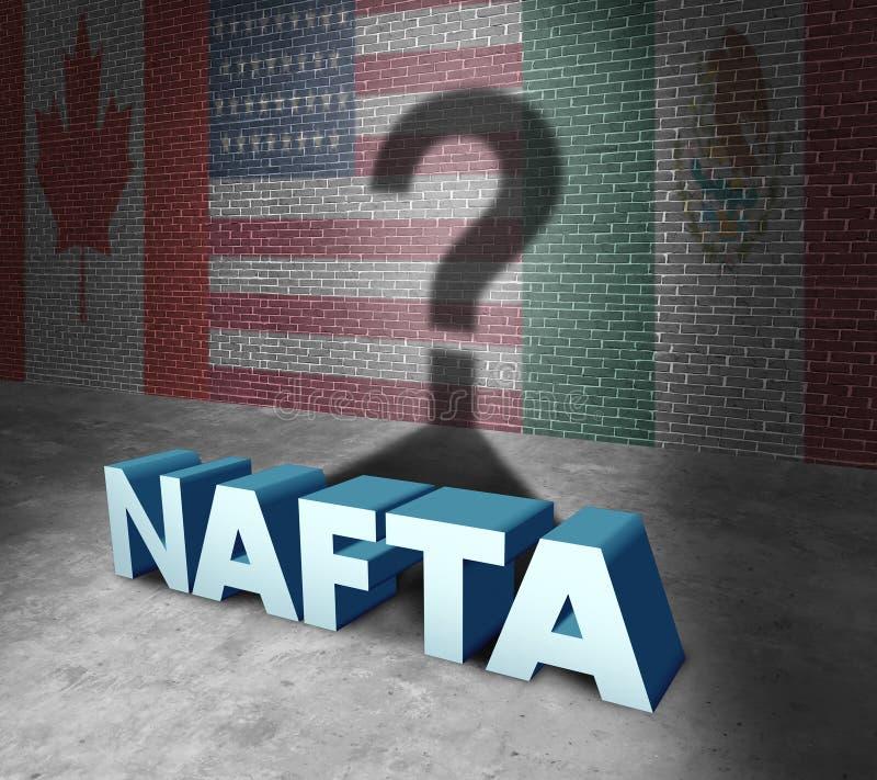 Concepto del NAFTA stock de ilustración