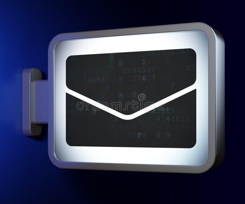 Concepto del negocio: Correo electrónico en fondo de la cartelera imagen de archivo