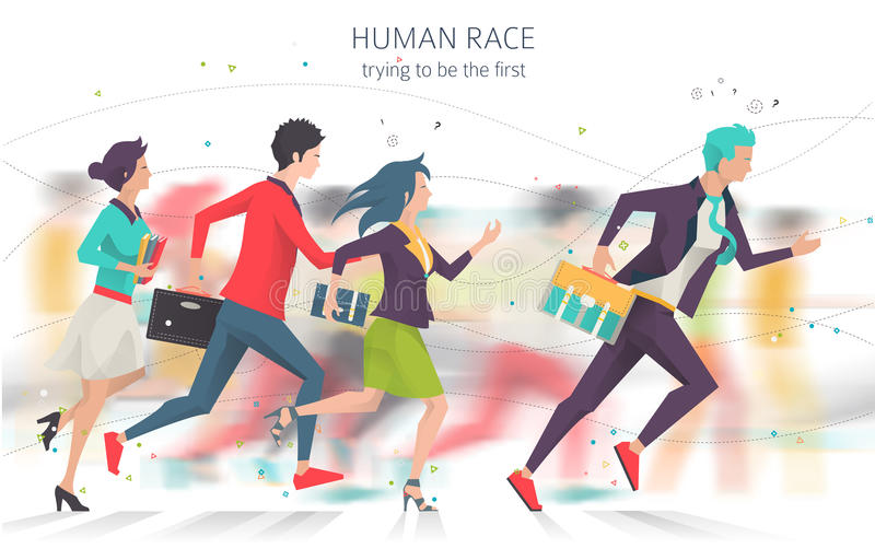 Concepto del negocio de competencia y de rivalidad libre illustration