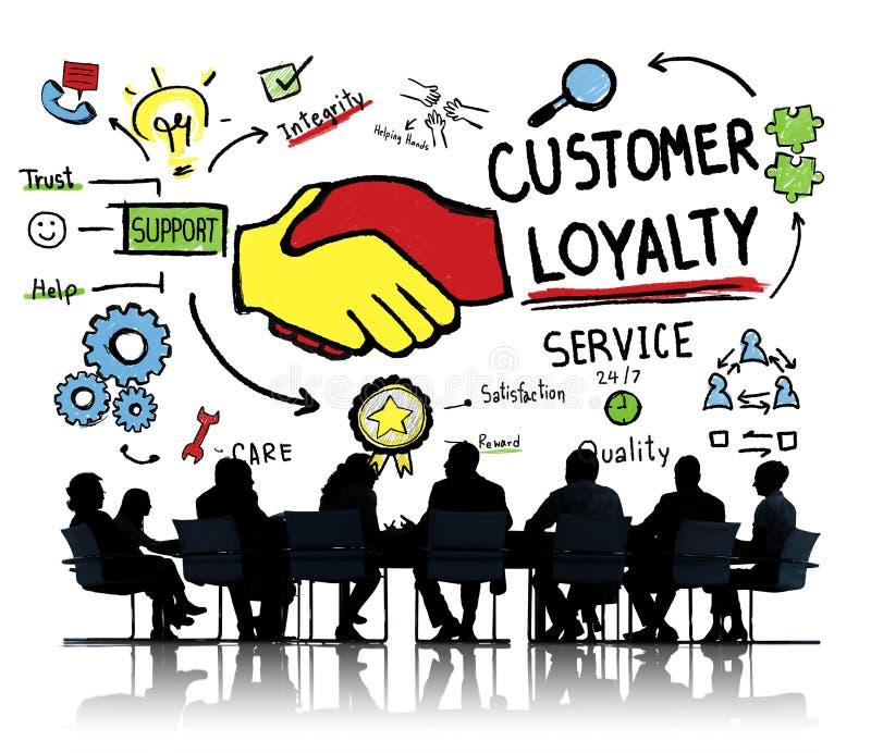 Concepto del negocio de confianza del cuidado de la ayuda de servicio de la lealtad del cliente foto de archivo libre de regalías