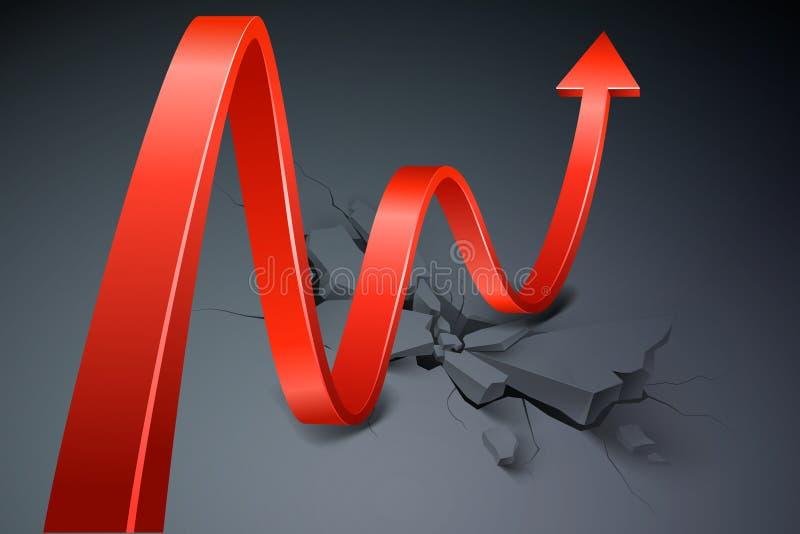 Concepto del negocio de la crisis stock de ilustración
