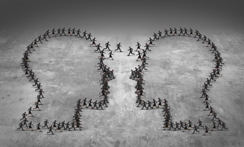 Concepto del negocio de la dirección del trabajo en equipo ilustración del vector