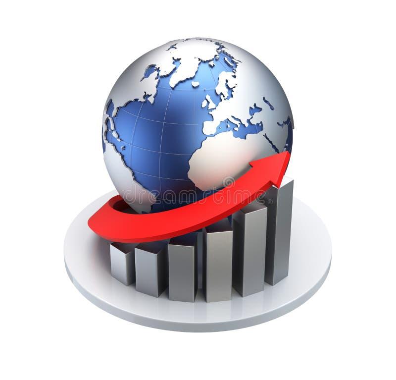 Concepto del negocio/de la economía stock de ilustración