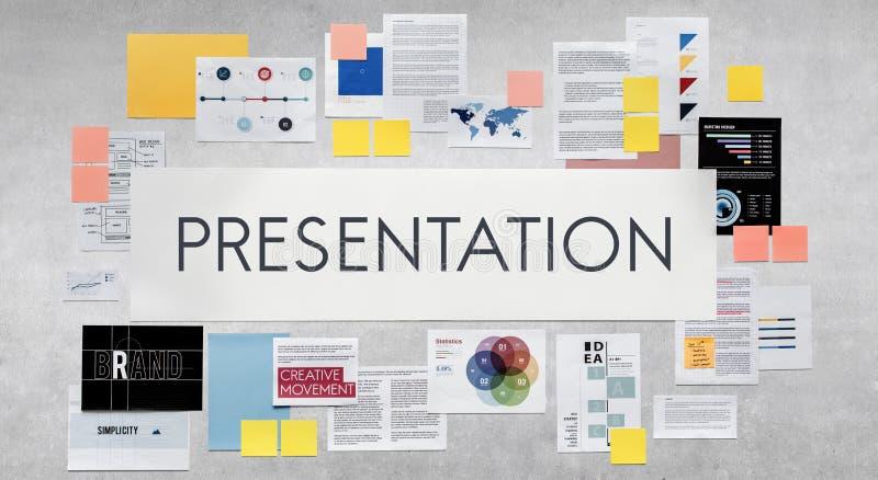 Concepto del negocio de la estrategia de marketing del documento fotografía de archivo libre de regalías