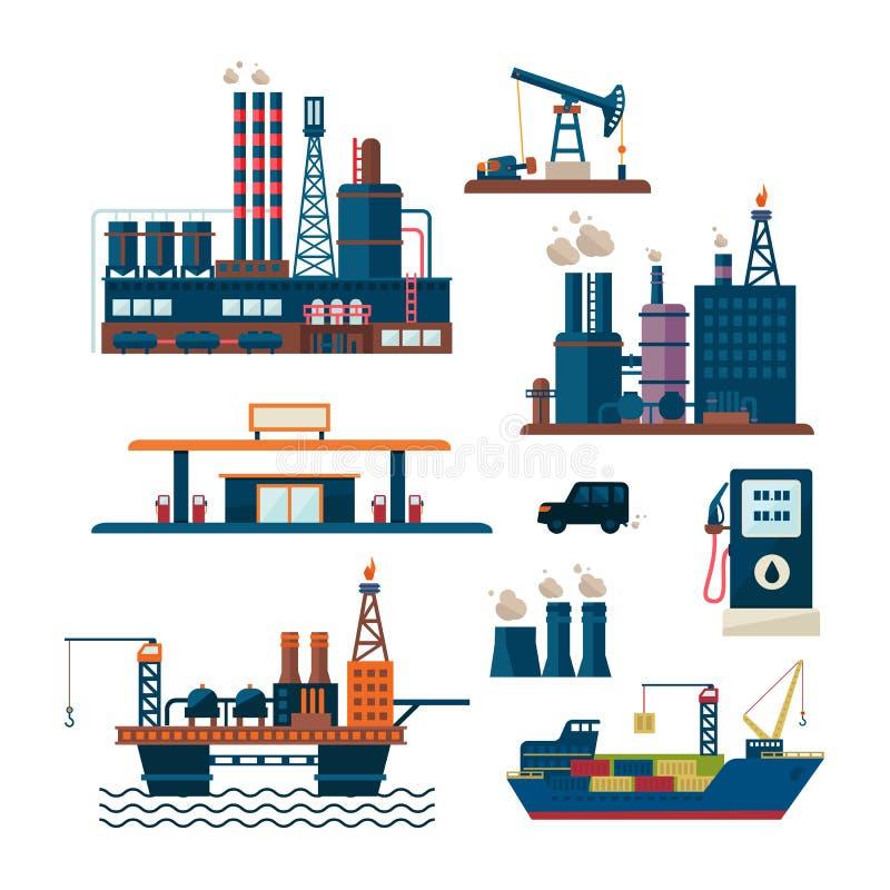 Concepto del negocio de la industria de petróleo de diesel de la gasolina libre illustration