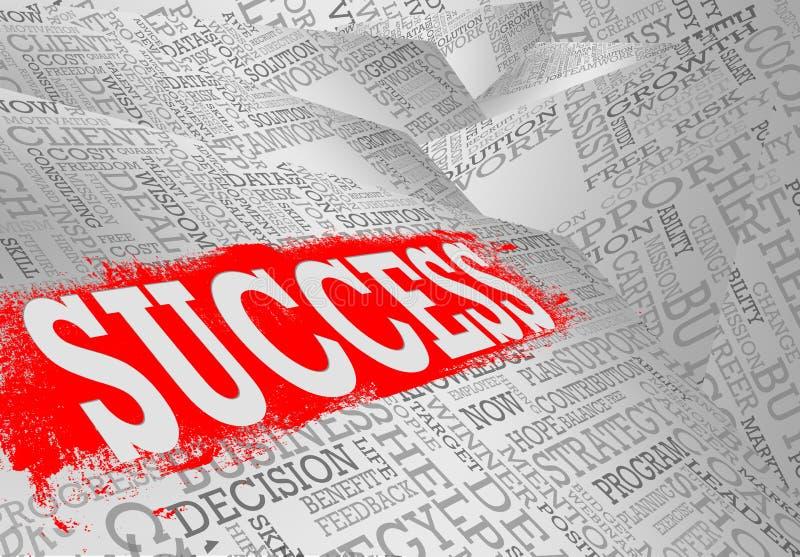 Concepto del negocio de la nube de la palabra del éxito libre illustration