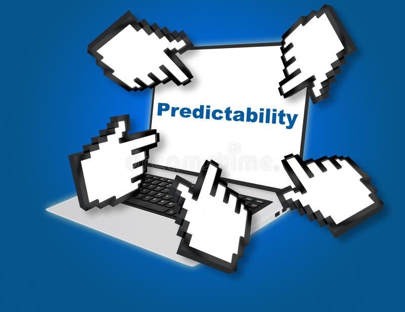 Concepto del negocio de la previsibilidad ilustración del vector