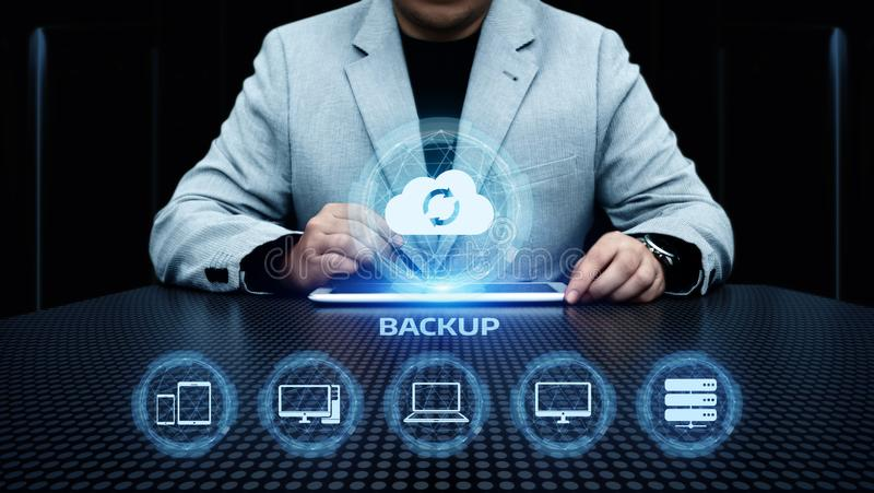 Concepto del negocio de la tecnología de Internet de los datos del almacenamiento de reserva foto de archivo libre de regalías