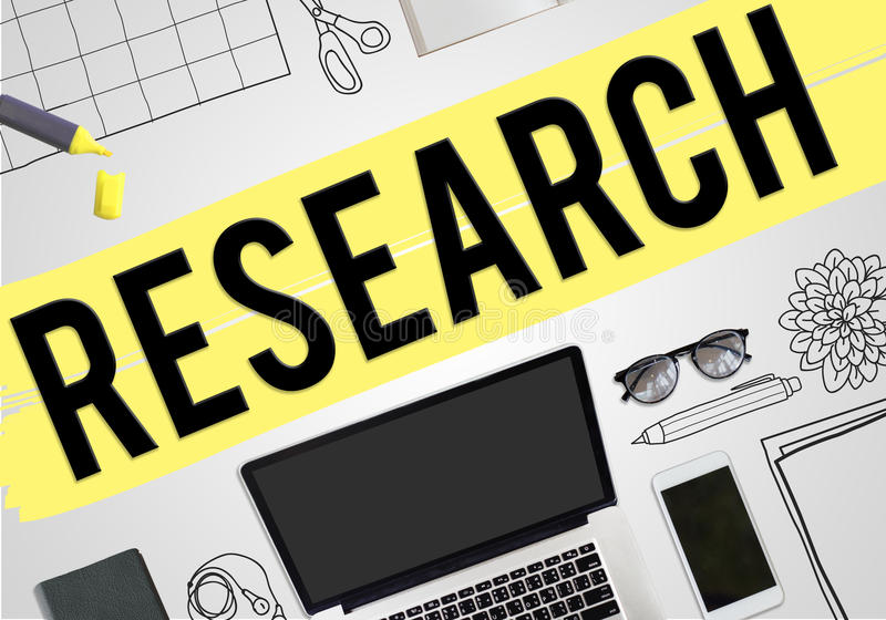 Concepto del negocio de las ideas del planeamiento del plan de la investigación libre illustration
