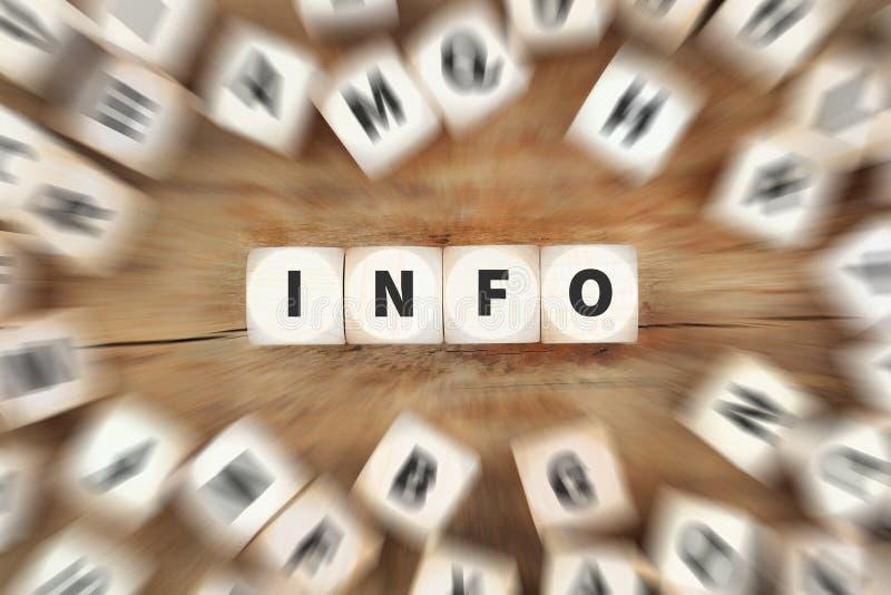Concepto del negocio de los dados de la ayuda de la ayuda de la información de la información foto de archivo libre de regalías