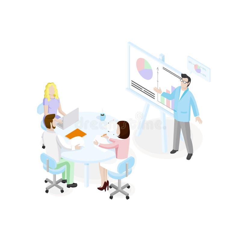 Concepto del negocio de Sometric ilustración del vector