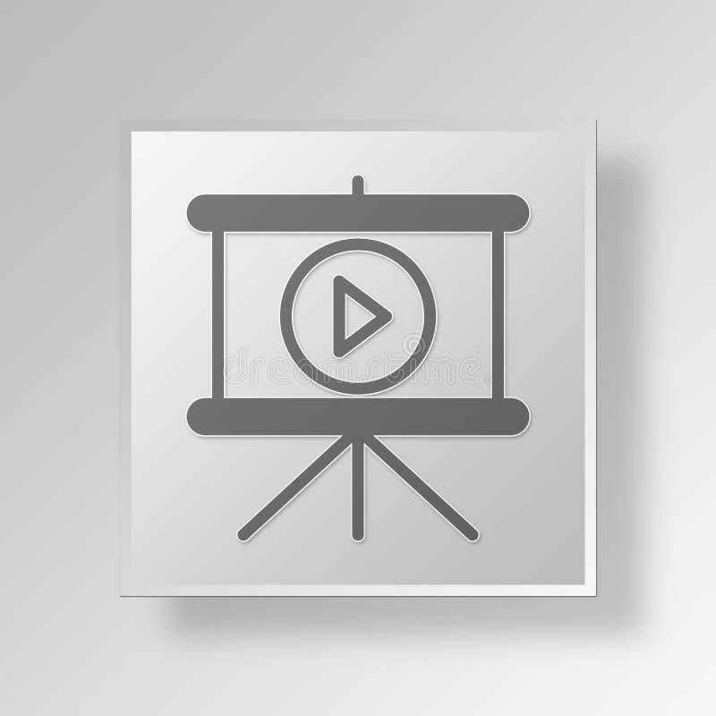 concepto del negocio del icono de la presentación del juego 3D libre illustration