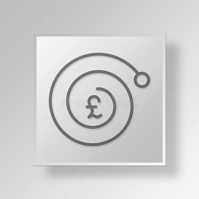 concepto del negocio del icono del interés de compuesto 3D stock de ilustración