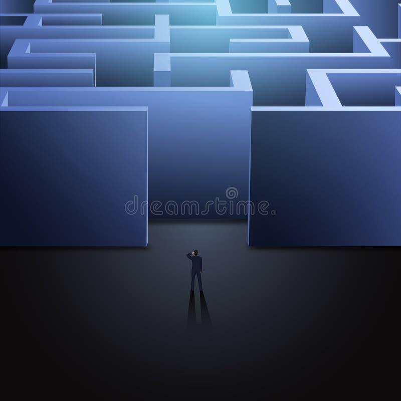 Concepto del negocio del laberinto ilustración del vector
