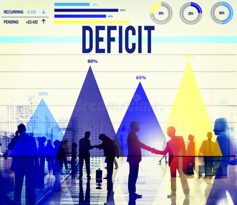 Concepto del negocio del presupuesto del problema de la crisis de la quiebra del déficit ilustración del vector