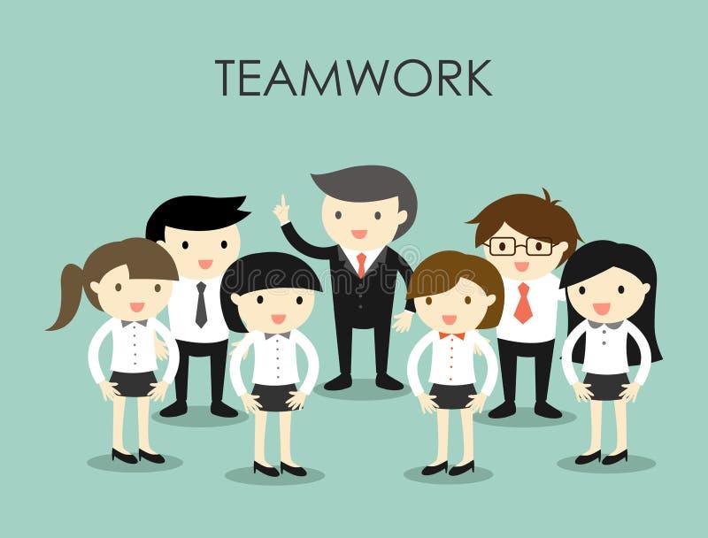 Concepto del negocio, grupo de hombres de negocios, concepto del trabajo en equipo stock de ilustración