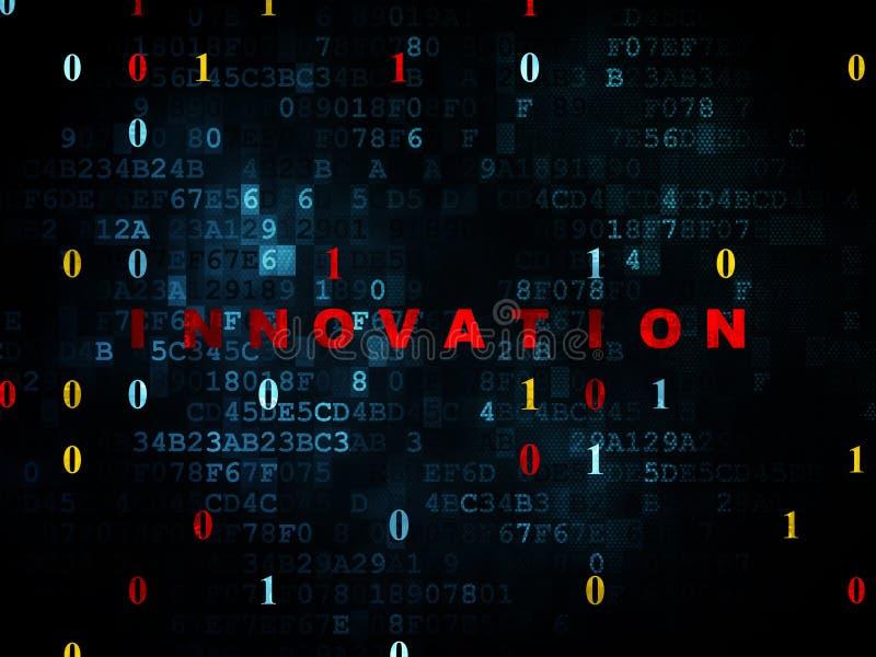 Concepto del negocio: Innovación en el fondo de Digitaces fotografía de archivo libre de regalías