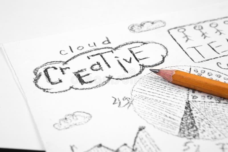 Concepto del negocio - la imagen con crea palabra imagen de archivo libre de regalías