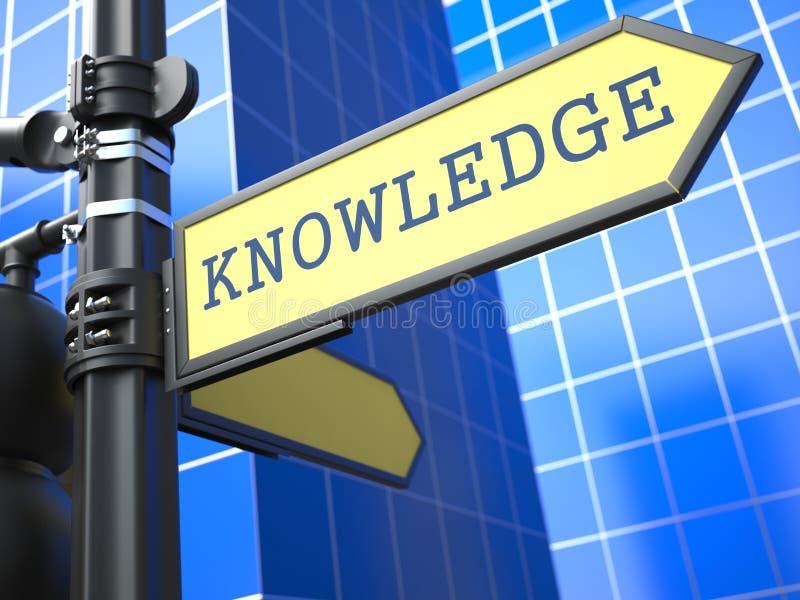 Concepto del negocio. Muestra del conocimiento. stock de ilustración