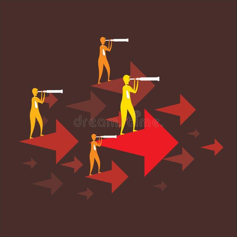 Concepto del negocio que mira idea del negocio stock de ilustración