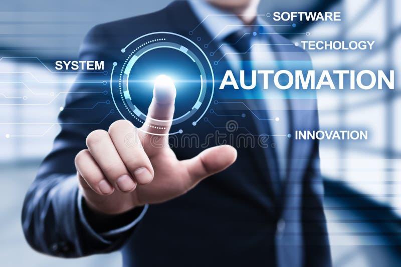 Concepto del negocio del sistema del proceso de la tecnología de programación de la automatización imagen de archivo libre de regalías