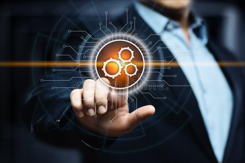 Concepto del negocio del sistema del proceso de la tecnología de programación de la automatización fotos de archivo