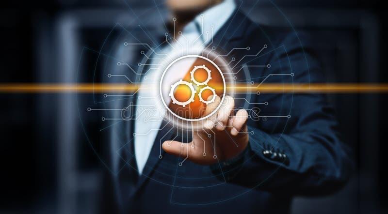 Concepto del negocio del sistema del proceso de la tecnología de programación de la automatización foto de archivo