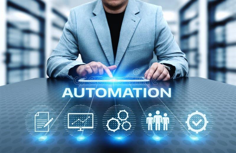 Concepto del negocio del sistema del proceso de la tecnología de programación de la automatización imágenes de archivo libres de regalías