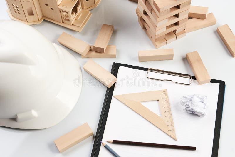 Concepto del negocio y de la construcción imagenes de archivo