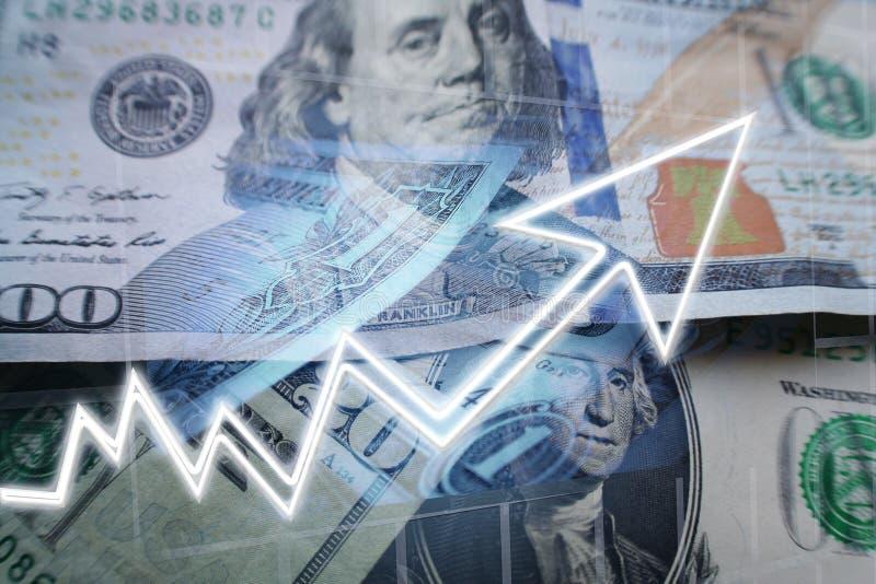 Concepto del negocio y de las finanzas de un mercado alcista de alta calidad ilustración del vector