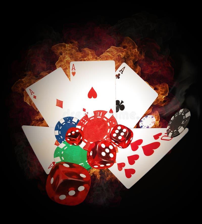 Concepto del póker imagen de archivo libre de regalías