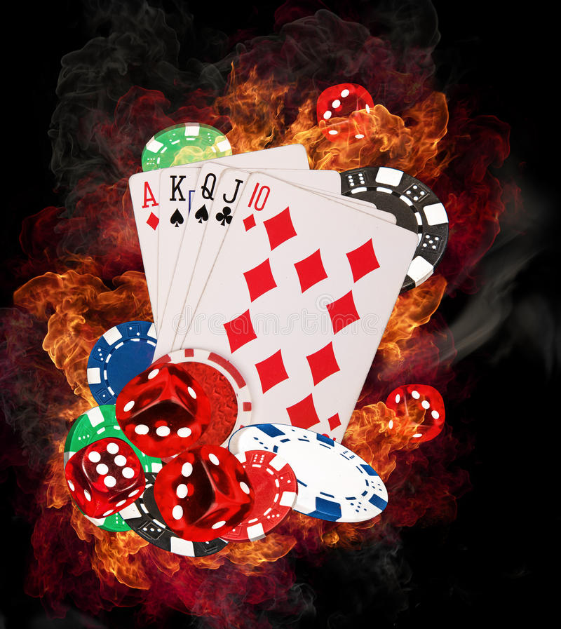 Concepto del póker fotos de archivo libres de regalías