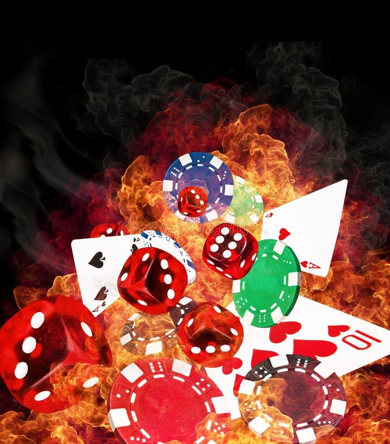 Concepto del póker imagen de archivo