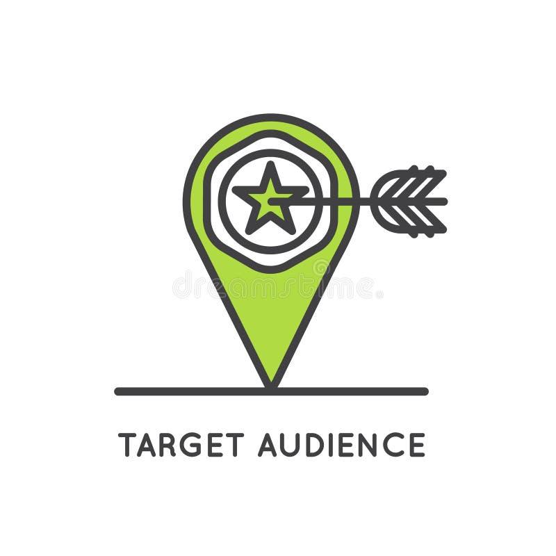 Concepto del público objetivo stock de ilustración