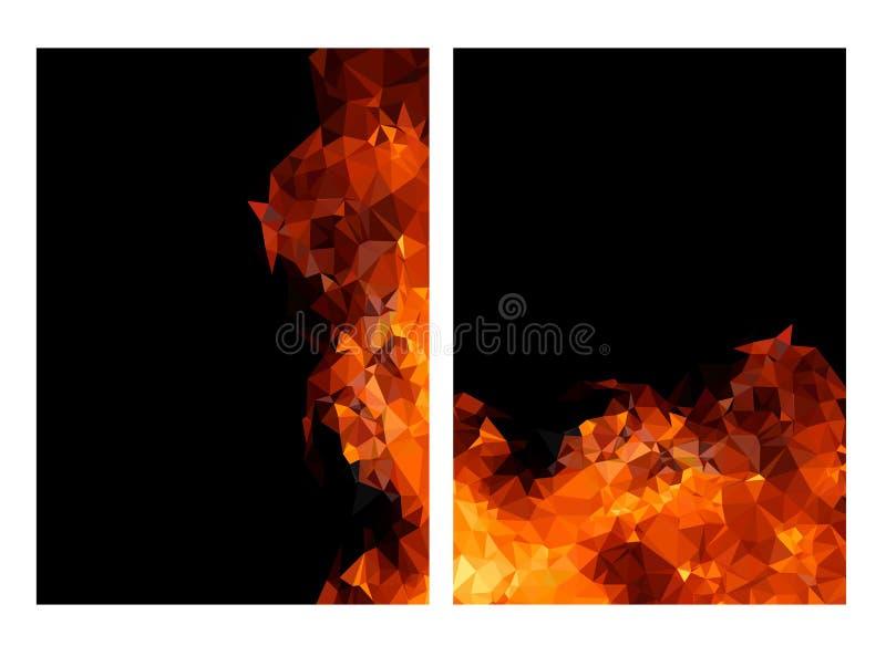 Concepto del papel de la disposición del fuego del polígono libre illustration