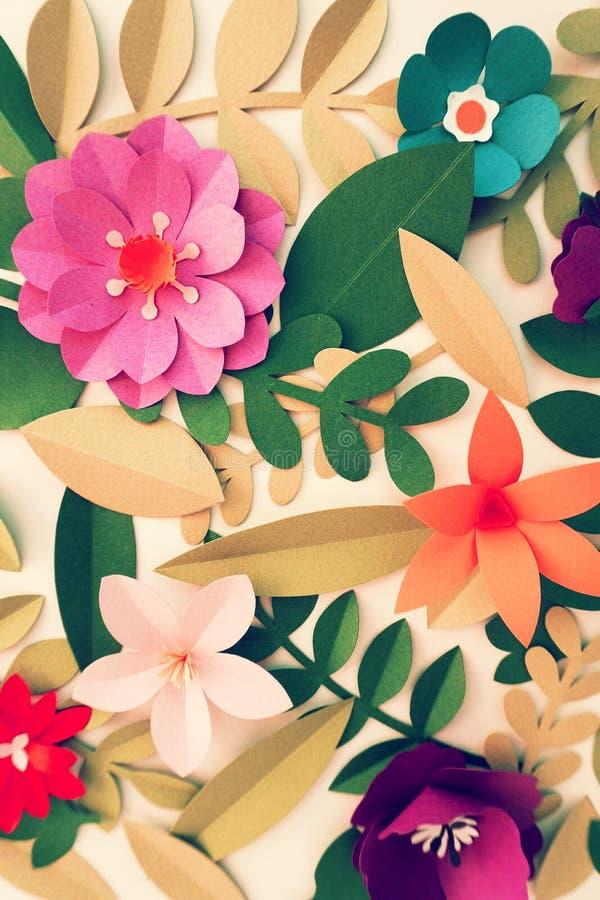 Concepto del papel del arte de la flor del fondo imagenes de archivo