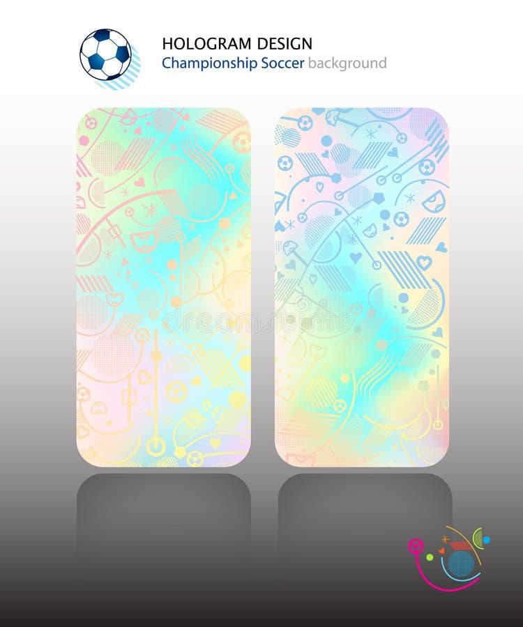 Concepto del papel pintado del holograma libre illustration