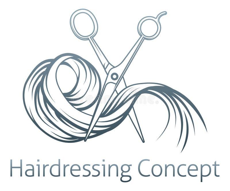 Concepto del peluquero libre illustration