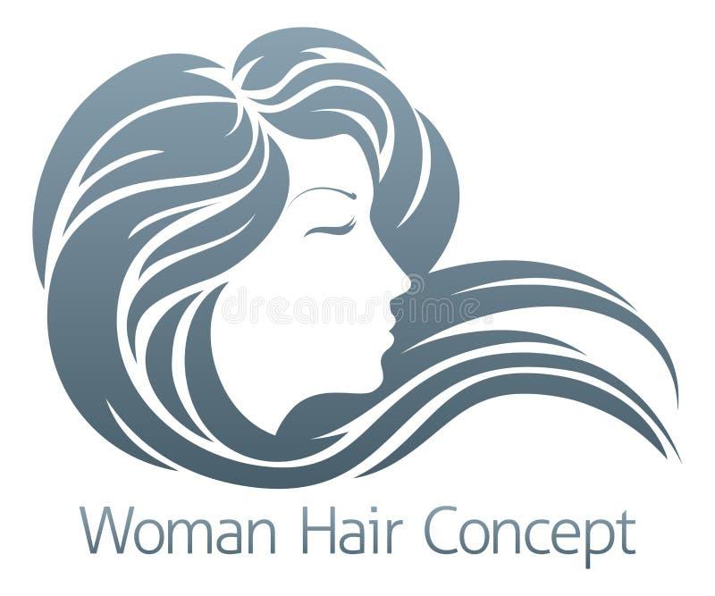 Concepto del perfil de la mujer stock de ilustración