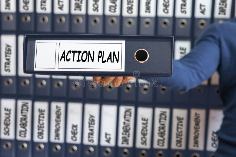 Concepto del plan de actuación Planeamiento de Vision de la estrategia del plan de actuación imagen de archivo