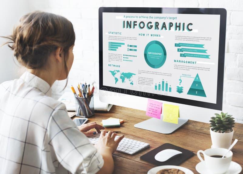 Concepto del plan de márketing de negocio global de Infographic fotografía de archivo libre de regalías