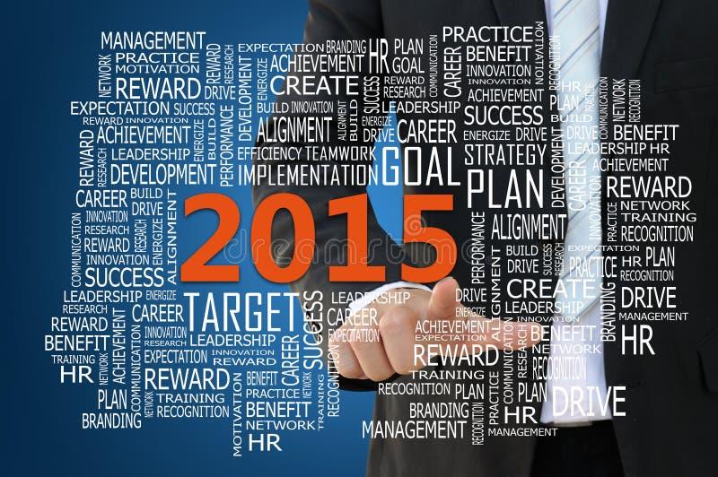 Concepto 2015 del plan empresarial imagen de archivo