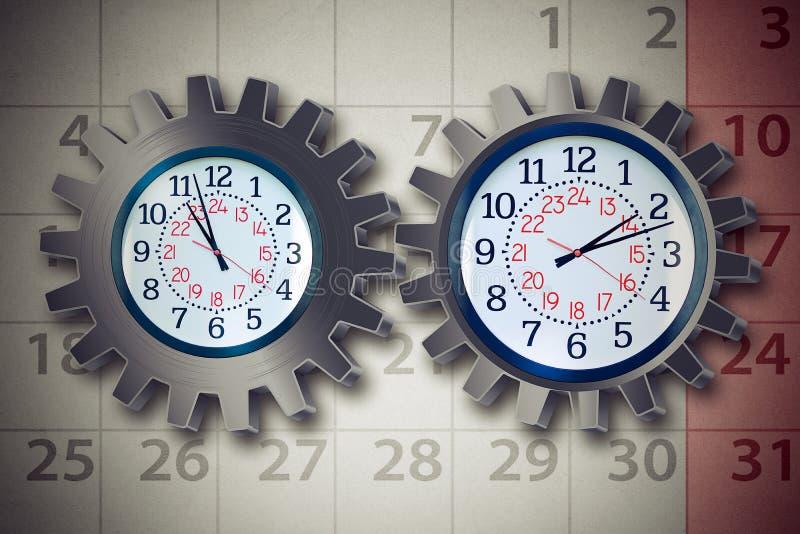 Concepto del planeamiento de organización de la empresa del horario de trabajo fotografía de archivo