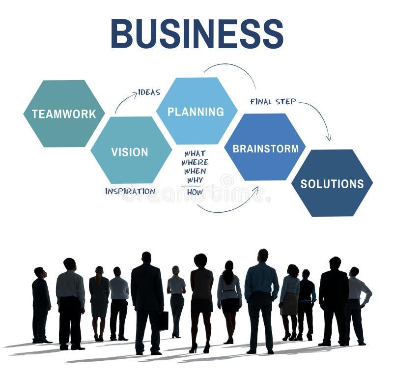 Concepto del planeamiento de Vision de la estrategia empresarial imagen de archivo libre de regalías