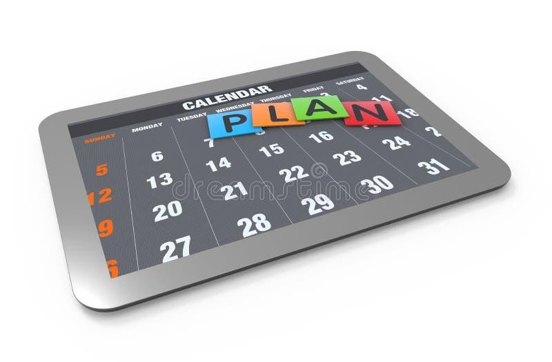 Concepto del planeamiento del calendario stock de ilustración