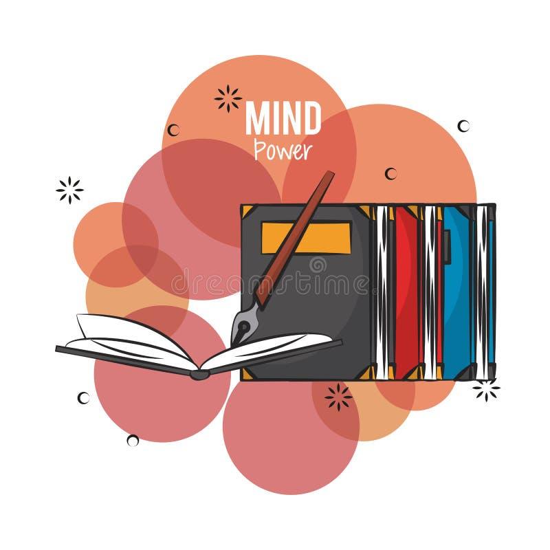 Concepto del poder de la mente stock de ilustración