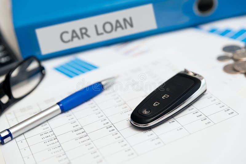 Concepto del préstamo del alquiler de coches o de coche imagen de archivo